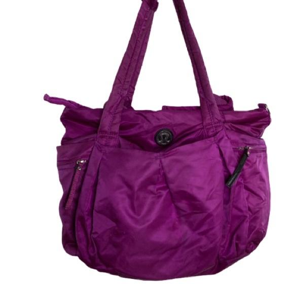 Lululemon Triumph Tote Duffel Gym Bag Raspberry